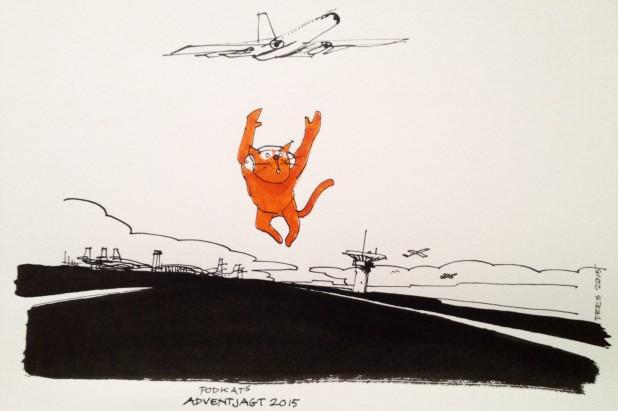 Podkat misser flyet til Catalonien